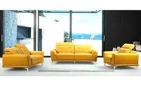 yellow leather couch modern yellow leather sofa throughout with regard to comfortable set grey and sets