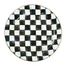 courtly check enamel charger plate 955004h home design mackenzie childs rugs i 11d amazing