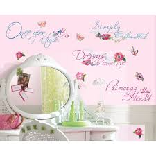 Princess Wall Decorations Bedrooms Details About New Disney Princess Quotes Wall Decals Princesses