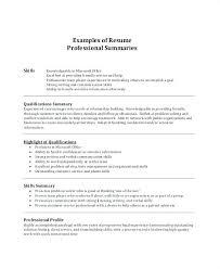 Resume Career Summary Extraordinary Resume Career Summary Examples Improve Professional Profile Resume