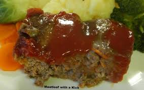 I find it helpful to use a small loaf pan to help shape the meat mixture. Meatloaf With A Kick Recipe Recipezazz Com