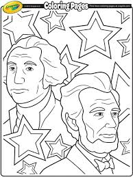 Small Picture Presidents Day Coloring Page Education Homeschool Stuff