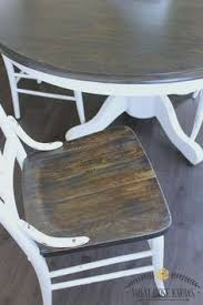 farmhouse style painted kitchen table and chairs chalk paint was not used chairtable