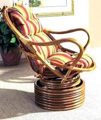 rattan swivel chair replacement cushions coil base rocker cushion rocki