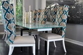glass dining table sets 6 chairs in