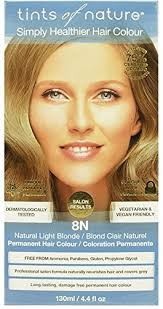 Tints Of Nature Color Chart Tints Of Nature 8n Natural Light Blonde Hair Color 4 4 Fz