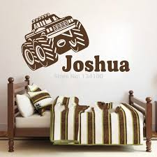 creative customer made personalised name tractor car wall art stickers kids baby boy vinyl decal on personalised baby boy wall art with creative customer made personalised name tractor car wall art