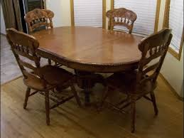 image of round kitchen table with leaf erfly leaf peralta round rustic solid wood dining