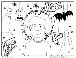 Jack o' lanterns, goblins, witches and more halloween pictures and sheets to color. Halloween Coloring Pages Religious Christian Do Not Fear