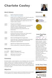 senior technical analyst cv rnei technical analyst resume