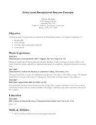 Medical Secretary Job Description Template Resume Front Office Stunning Secretary Duties Resume