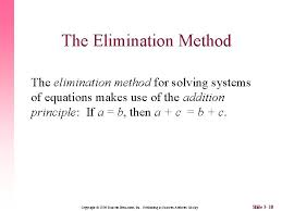 2 solving by substitution or elimination n