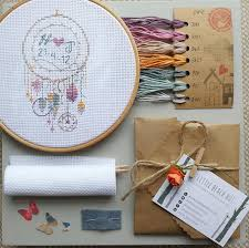 Personalized Spinning Dream Catcher Dream catcher cross stitch kit wedding cross stitch dream 63
