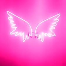 neon pink angel wings neon signs