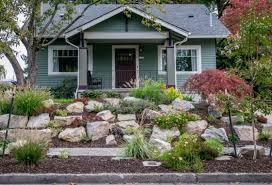boulder retaining wall wood rock garden designs front yard