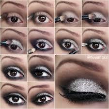 silvery shimmer eye makeup tutorial