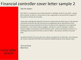 Gallery Of F And B Controller Cover Letter