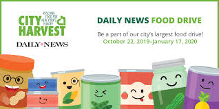 Food Drive Posters The 37th Annual Daily News Food Drive City Harvest