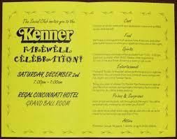 kenner employee farewell invitation