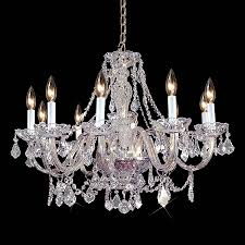 weinstock illuminations 28 in 10 light hand polished chrome crystal crystal candle chandelier