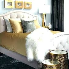 Black And Gold Bedroom Interior Decorating Black And Gold Bed Home ...