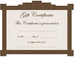 printable gift certificates certificate templates gifts it