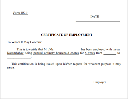 Bethsaida cbr services for the disabled inc. 9 Free Certificate Of Employment Word Excel Pdf Formats