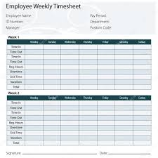 Employee Timesheet Template Employee Timesheet Template Stock Vector © Cteconsulting 24 4