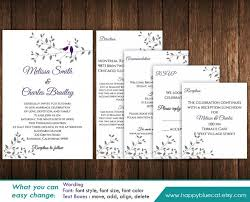 Invite Templates For Word Fascinating DiY Printable Pocket Wedding Invitation Template SET Instant