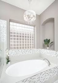 white bathroom with chandelier for ceiling lights ideas