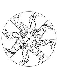 Kleurplaat Mandala Paard Kleurplatennl