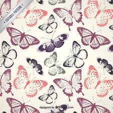 Butterfly Pattern Interesting Butterflies Pattern Vector Premium Download
