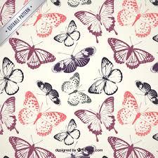 Butterfly Pattern Interesting Butterflies Pattern Vector Premium Download
