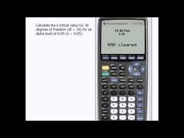 How To Find T Critical Value On Ti 83 Statistics How To
