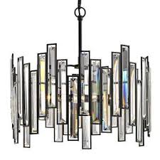 madison 18 in 3 light aged bronze chandelier with crystal prisms