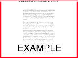 introduction death penalty argumentative essay essay academic  introduction death penalty argumentative essay the death penalty is something that many people do not
