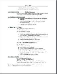 Medical Student Resume Inspiration Medical Assistant Student Resume Objective Goal Examples Res