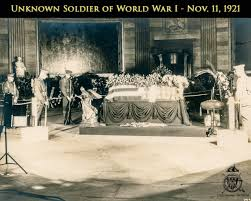 Image result for the unknown soldier was buried with highest honors beside the Memorial Amphitheater.