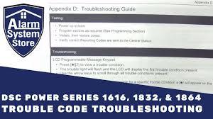 Dsc Alarm Yellow Triangle Light Is On Dsc 1616 1832 1864 Impassa And Alexor Trouble Codes