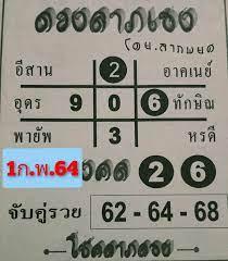 หวยไทยรัฐ1/2/64 : หวยไทยรัฐ แม่จำเนียร รวมหวยเด็ด หวยซองดัง มาแรง 16/2/64