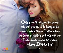 Happy Birthday Love Quotes Interesting Birthday Love Quotes 48 Quotes Straight From The Heart
