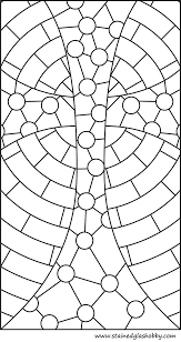 Coloring Stained Glass Pages Free Printable Window Stain Christmas Pri