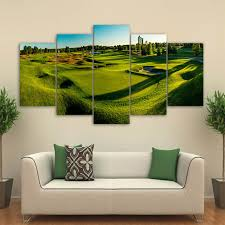 modern frames for paintings 5 panel golf course decorative canvas art prints wall picture for home on framed canvas wall prints with modern frames for paintings 5 panel golf course decorative canvas