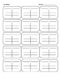 Blank Spanish Conjugation Charts With All Conjugations Spanish Verb Charts Blank Verb Chart Spanish Verb