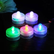 Underwater Led Tea Lights Us 8 99 10 Off 10pcs Lot Waterproof Submersible Led Tea Lights Rgb Electronic Candles Light For Wedding Birthday Party Vase Lamp Decoration New In