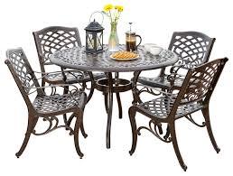 5 piece covington outdoor cast aluminum dining set