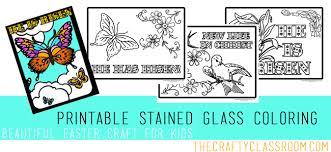 Diy Stained Glass Coloring Pages The Crafty Classroom