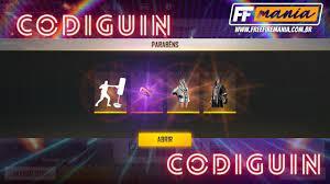 CODIGUIN FF: Novos códigos Free Fire com itens do evento Noite de Nocaute  chegam ao jogo - Free Fire Mania
