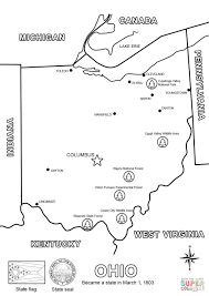Small Picture Ohio Map coloring page Free Printable Coloring Pages