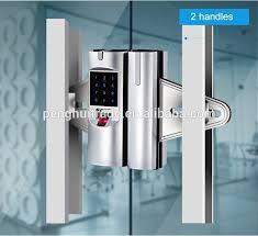 surprising glass door lock zinc alloy office digital rf card keypad biometric smart glass